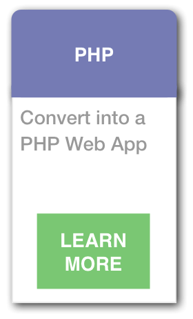 Transition to PHP Web Application