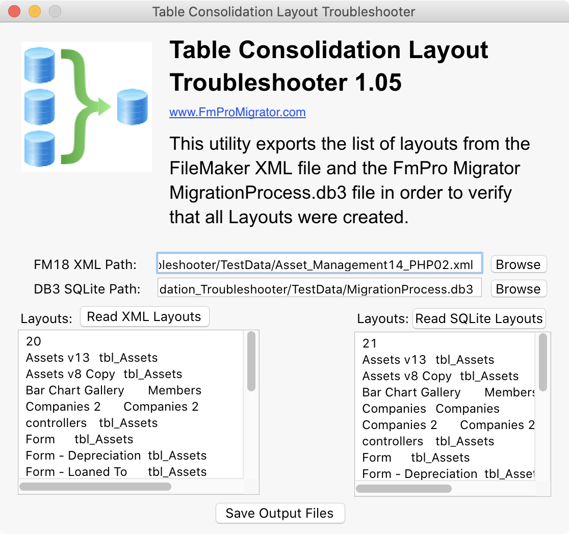 FmPro Migrator 8.87 Adds FileMaker 18 Table Consolidation on Catalina Image