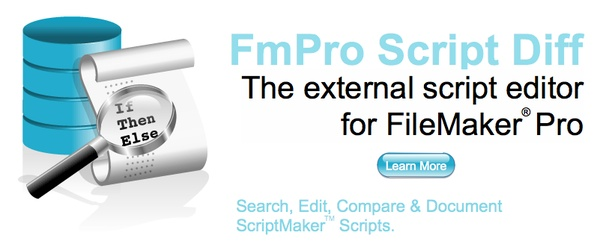 FmPro Script Diff - The external script editor for FileMaker Pro. Search, Edit, Compare and Document ScriptMaker Scripts.